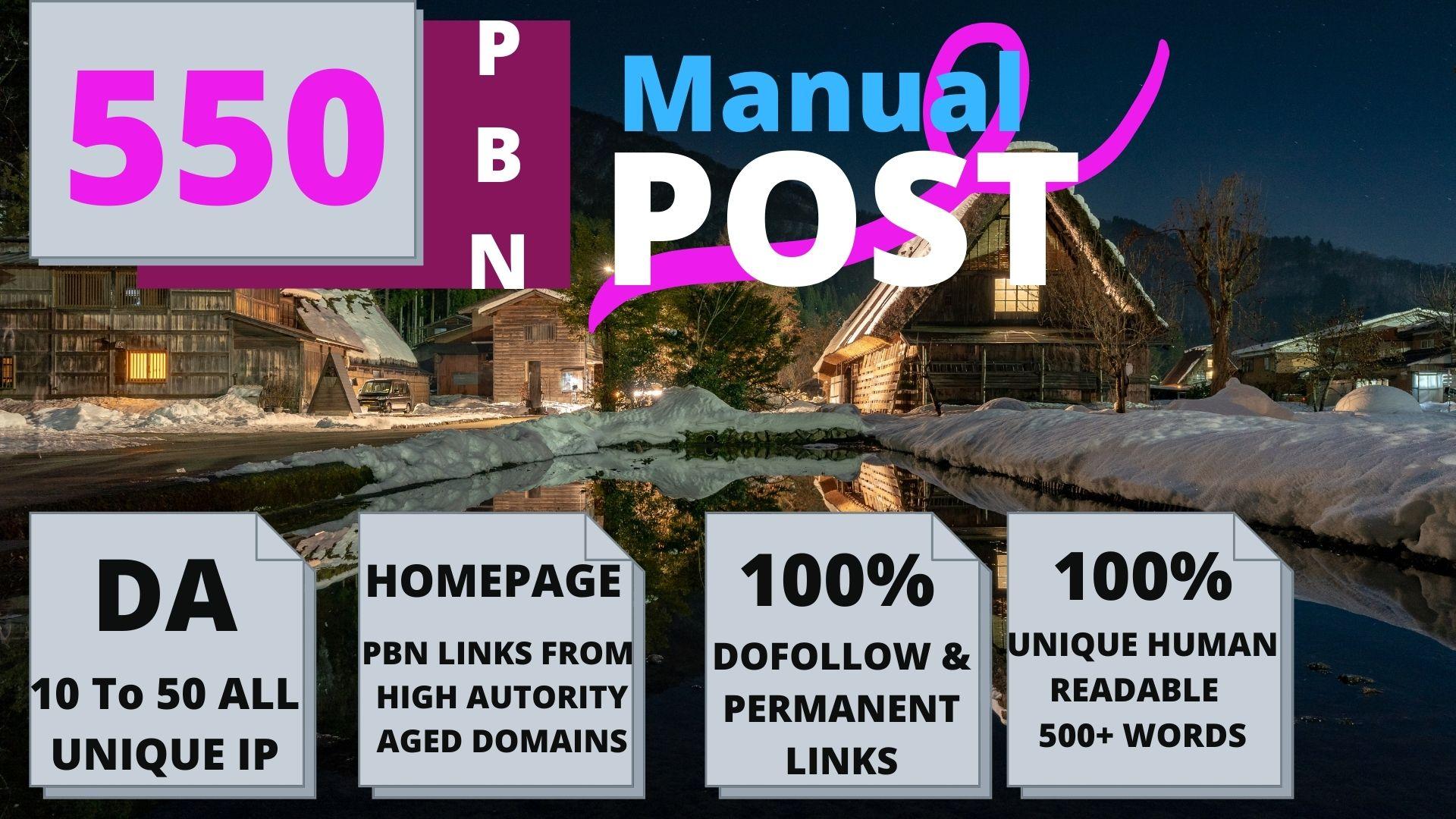 Permanent 550 powerful SEO,  Backlink, PBN High-Quality Web2.0 Backlinks