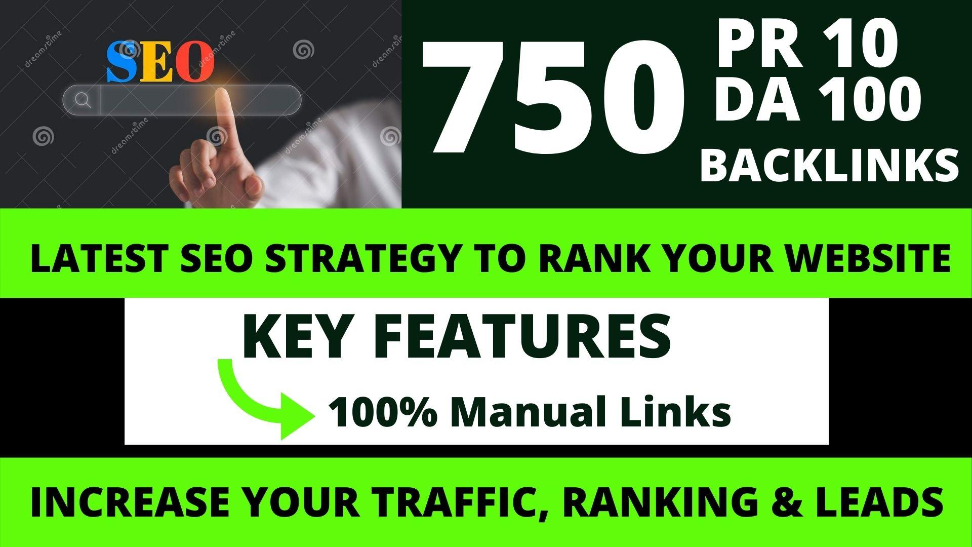 Permanent 750 powerful SEO,  backlink, PBN,  Dofollow,  rank High-Quality Web2.0 Backlinks.