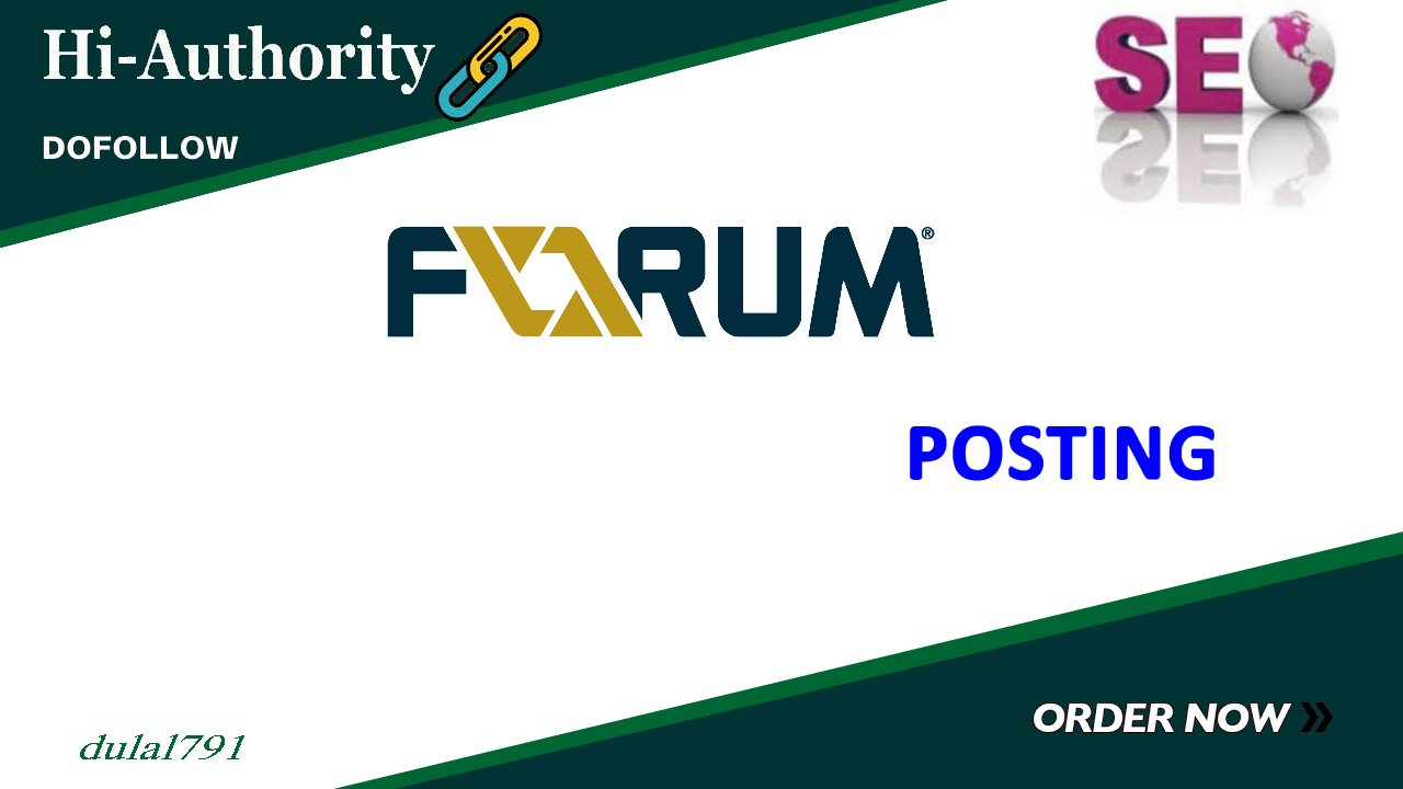 I Will Created 4o High Quality PA DA Forum Posting Manually