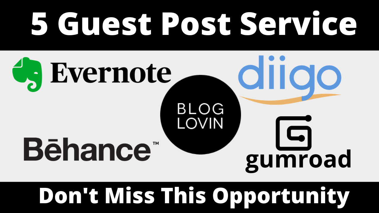Publish 5 Guest Post With Permanent Backlinks