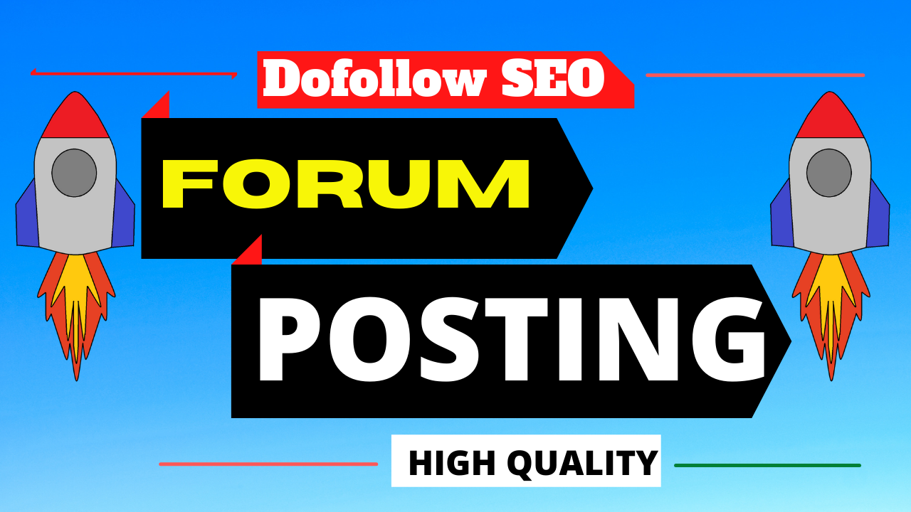 I will provide you 20 high domain authority forum posting backlinks