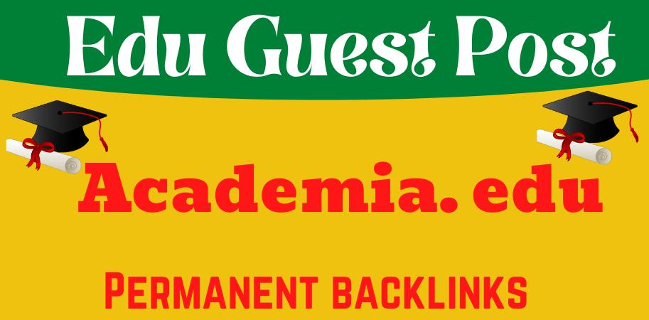 publish Edu Guest Post on Academia. edu