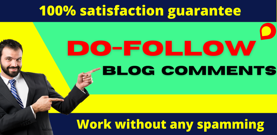 I will provide 50+ dofoll0w blog comments backlinks on high DA