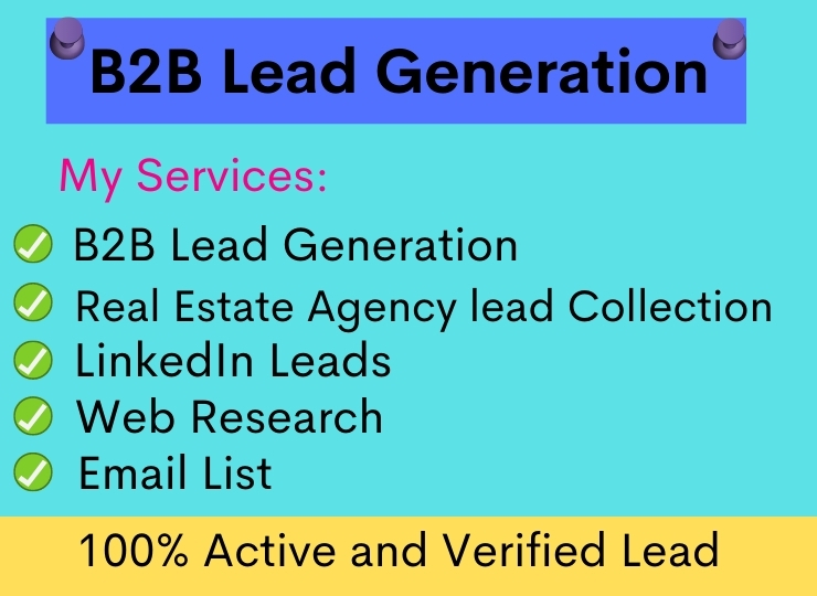 I will do b2b LinkedIn lead generation, Web Research and Data Enry