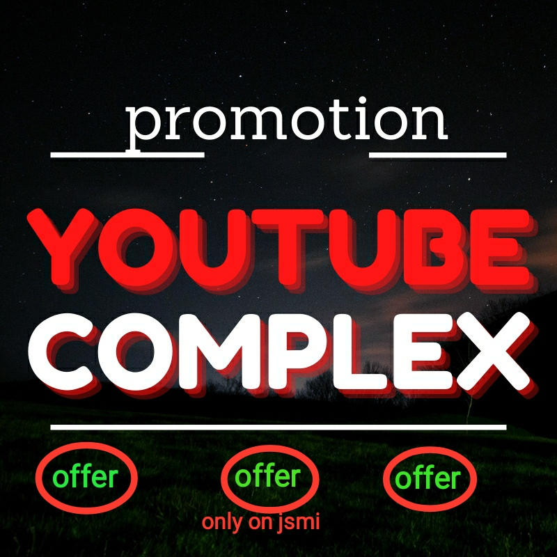 HQ YouTube Video Promotion Complex Fast