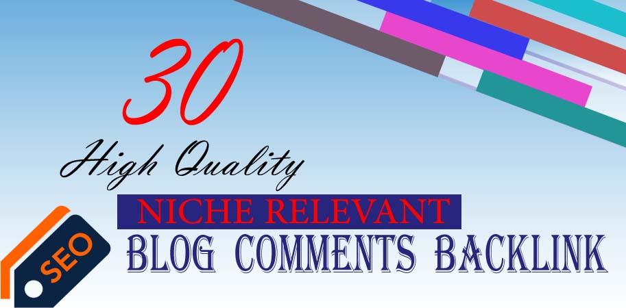 provide 30 niche relevant blog comment