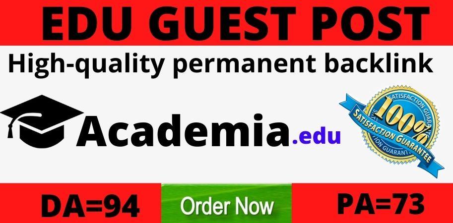 strong Edu guest post on academia. edu DA94 PA73