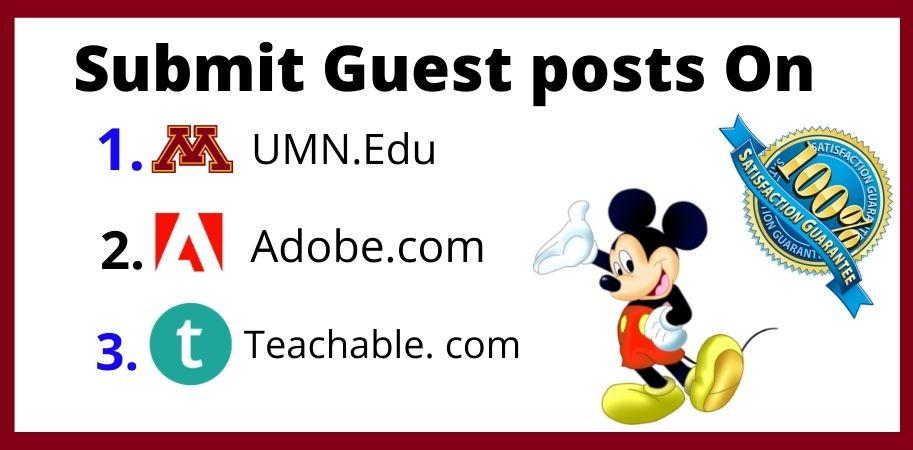High quality edu guest posts on high DA PA blog.