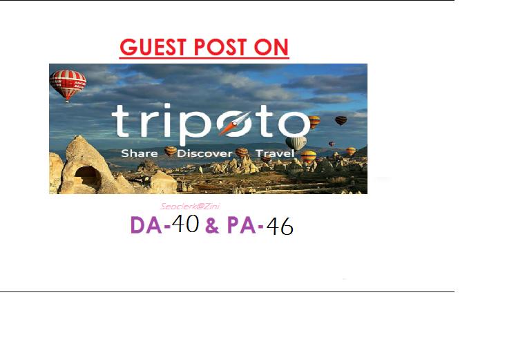 Able to publish travel content on Tripoto. com DA 40