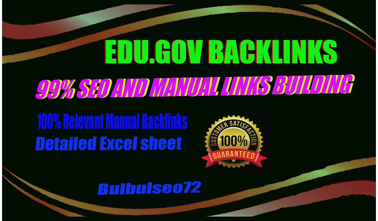 I will Provided manually reach 20 PR8 + 20 EDU-GOV Safe SEO High Quality 20 Backlinks