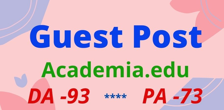 I will do guest post on Academia. edu manually