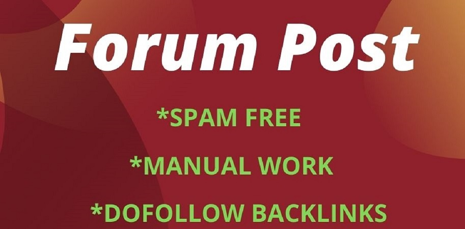 I will create 40 dofoll0w forum posting backlinks
