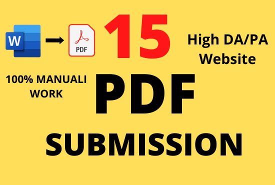 I will create and upload 15 PDF in high authority site