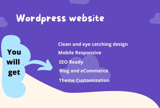 I will Develop Responsive WordPress Website Fast & SEO Friendly