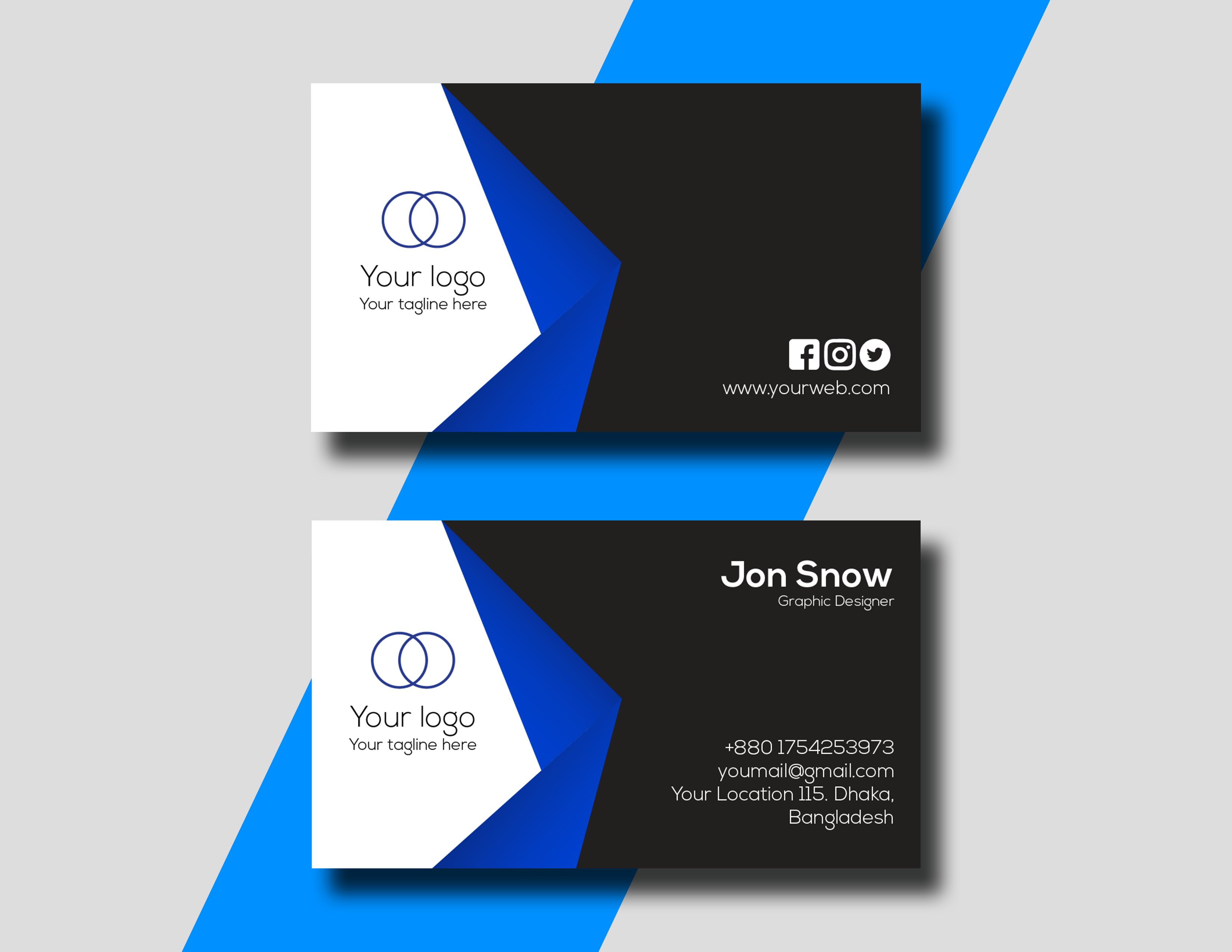 I will design any kind of professional business card for you