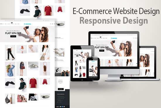 I will create ecommerce site for your e-commerce online store