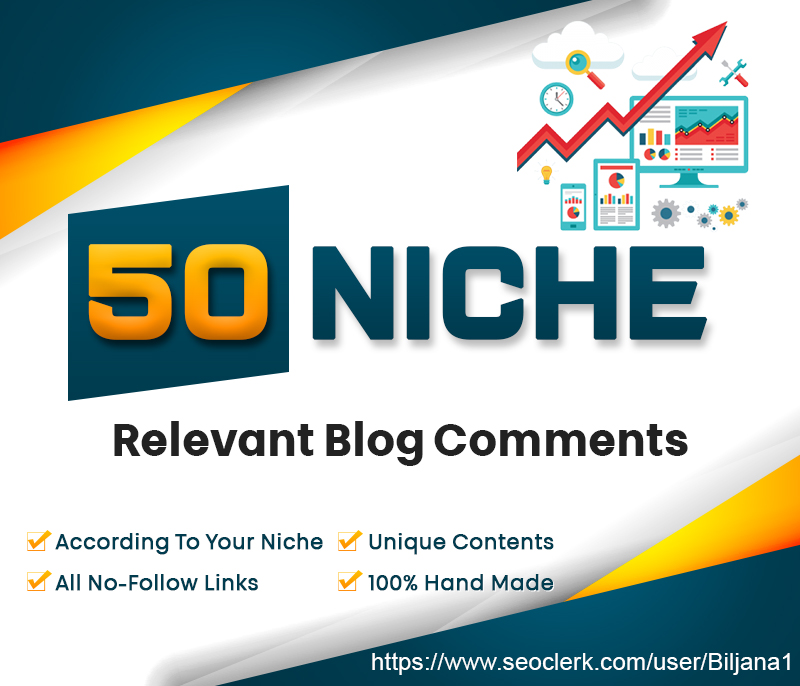 I will create 50 high quality niche relevant blog comment backlinks