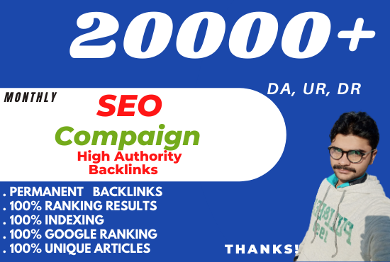 I will Create a Full Monthly SEO Compaign Backlinks For Your Sites
