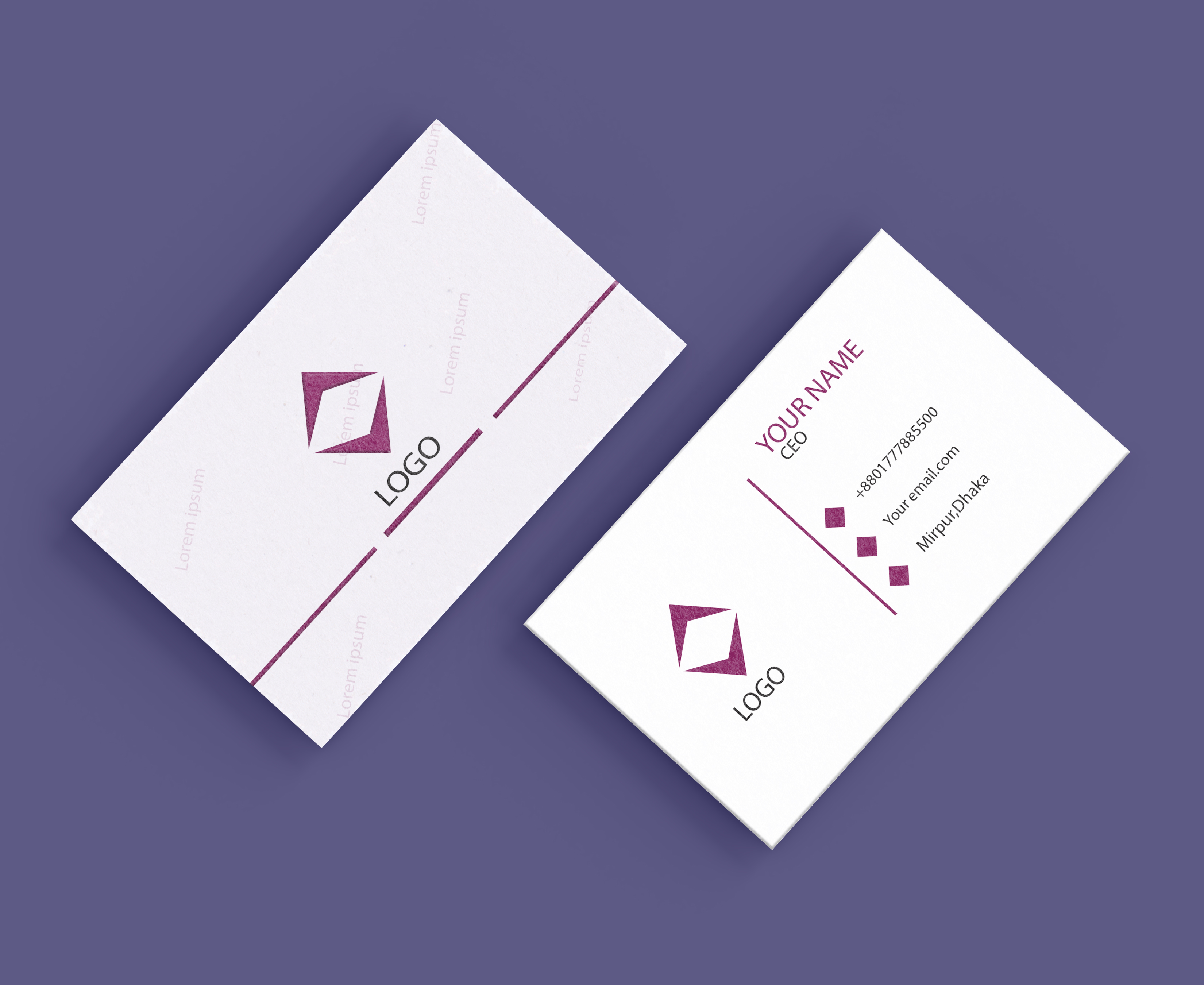 I will design creative business card for you