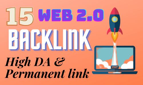 I will build up 15 handmade web 2.0 backlinks
