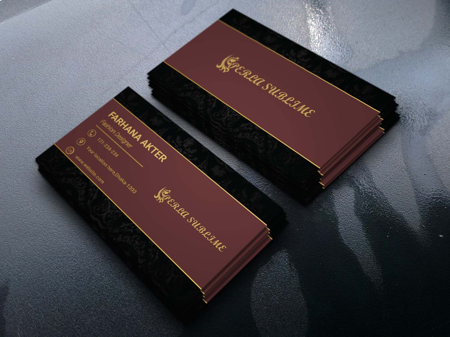 I Will Design Professional,  unique and luxury Business card you