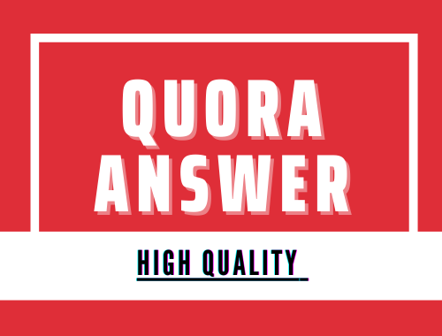 5 High Quality Quora Answer with unique 500 words Articale and Contextual link