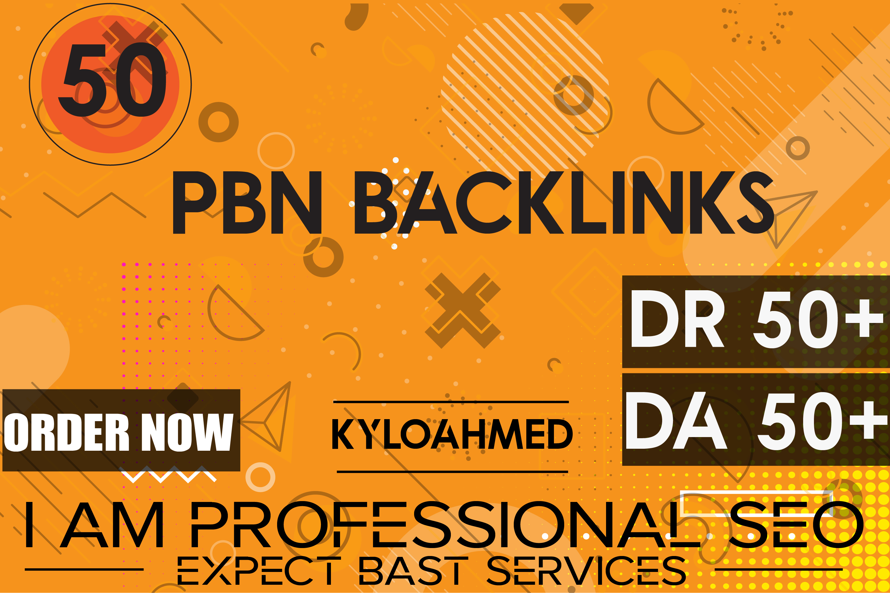 I will build 50 permanent DR 50+ DA 50+ homepage pbn dofollow backlinks link building