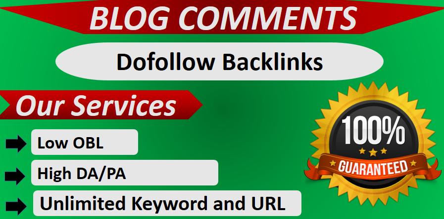 Manually do 100+ Dofollow Blog comment Backlinks
