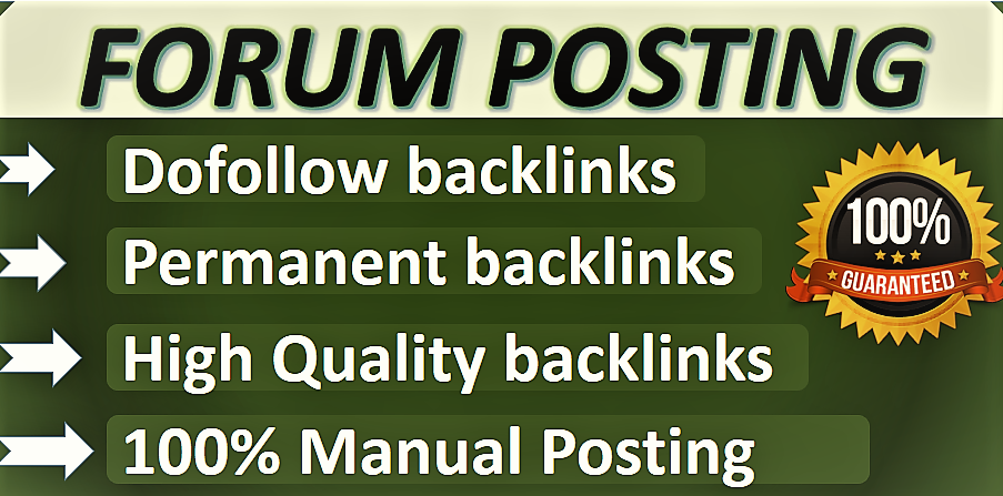 I will Provide 20+ forum posting backlinks