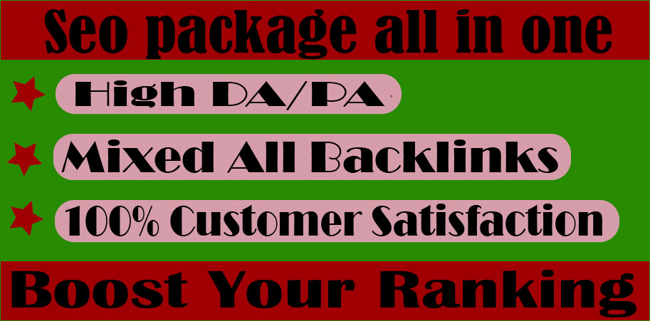All in One Latest SEO Backlinks Package
