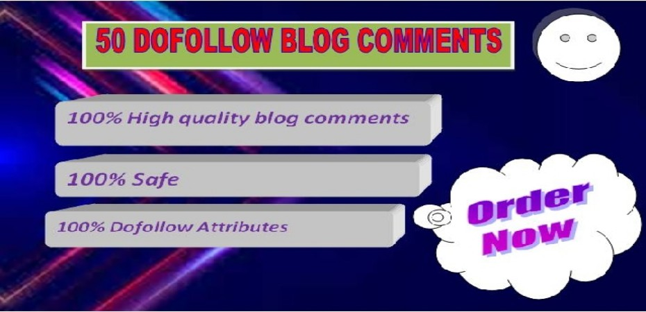 i will provide 50 Blog Comments on High DA PA
