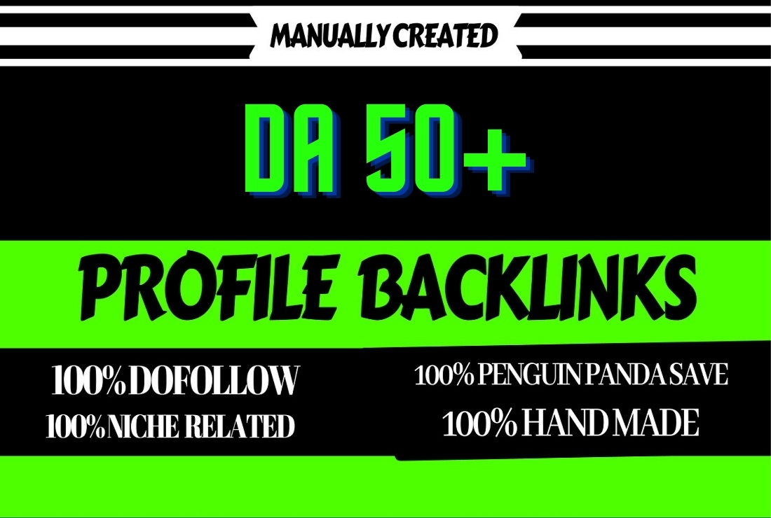 I will make 50 SEO do follow profile backlinks on high authority websites