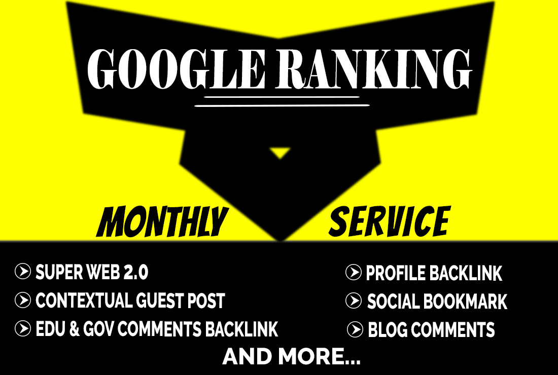 I will do monthly off page SEO service White Hat 500 backlinks