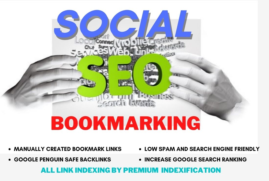 I will create high quality bookmarks social SEO backlinks