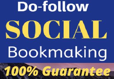 I will make 50 dofollow social bookmarking backlinks