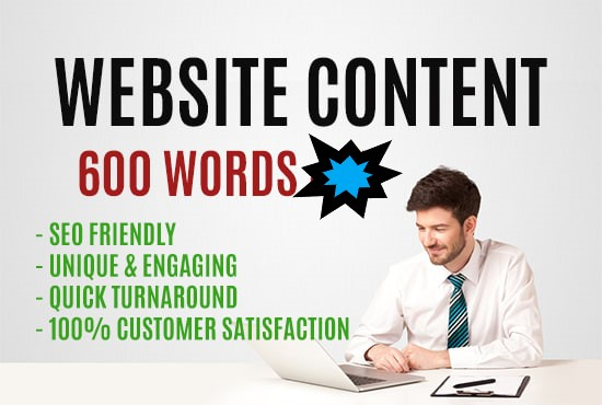 I will write SEO articles or website content up to 600 words
