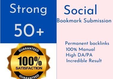 I will do 50 plus social bookmarking on high PR backlinks