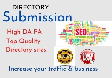 I will give 100 web directory submissions manually