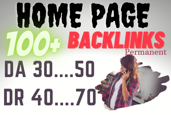 50 SEO Homepage Backlinks With high DR up-to 50 Plus Permanent
