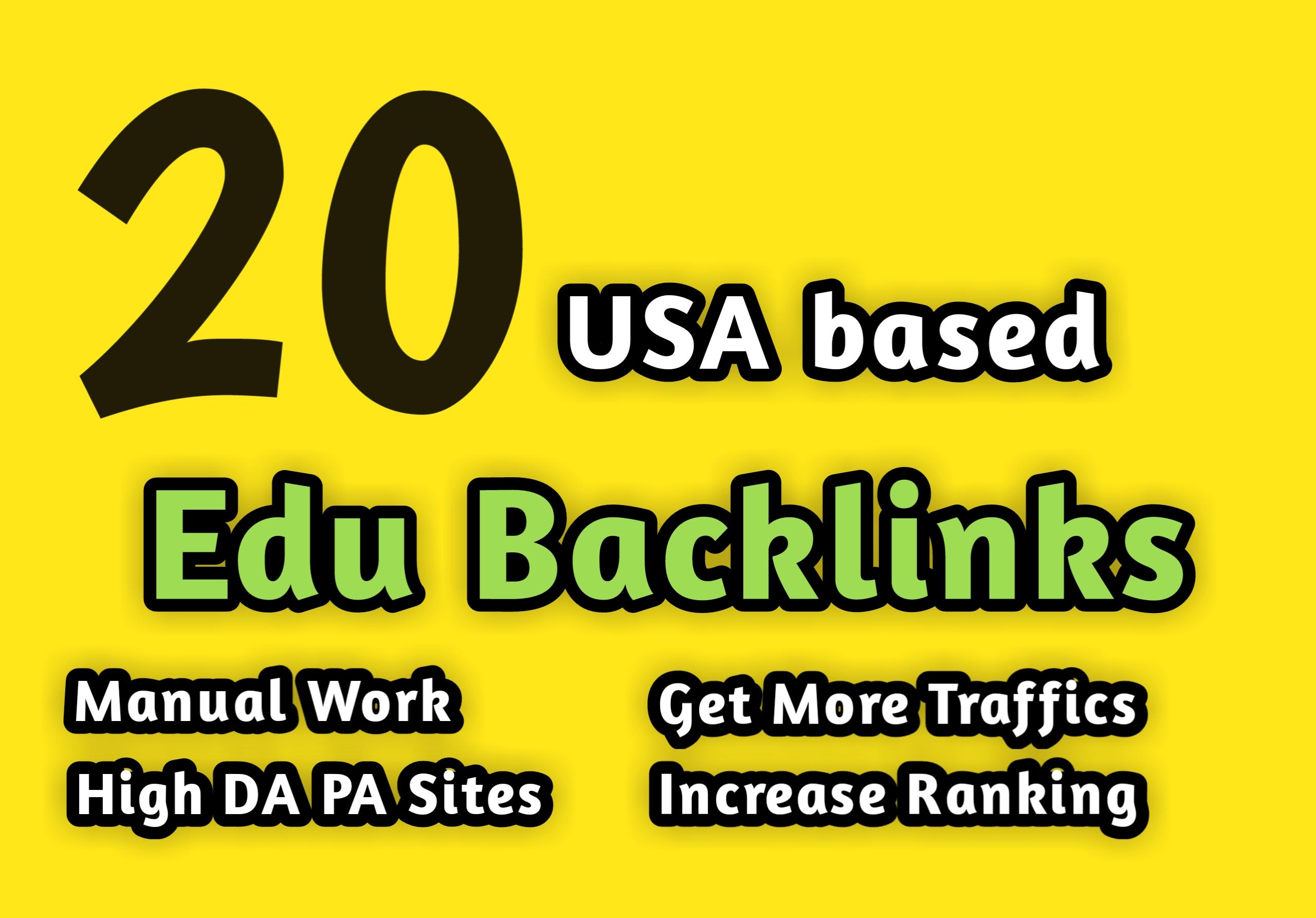 Get 20 USA based edu gov backlinks