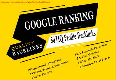 Provide 50 High Authority DA PA Profile Backlinks Manually 2020
