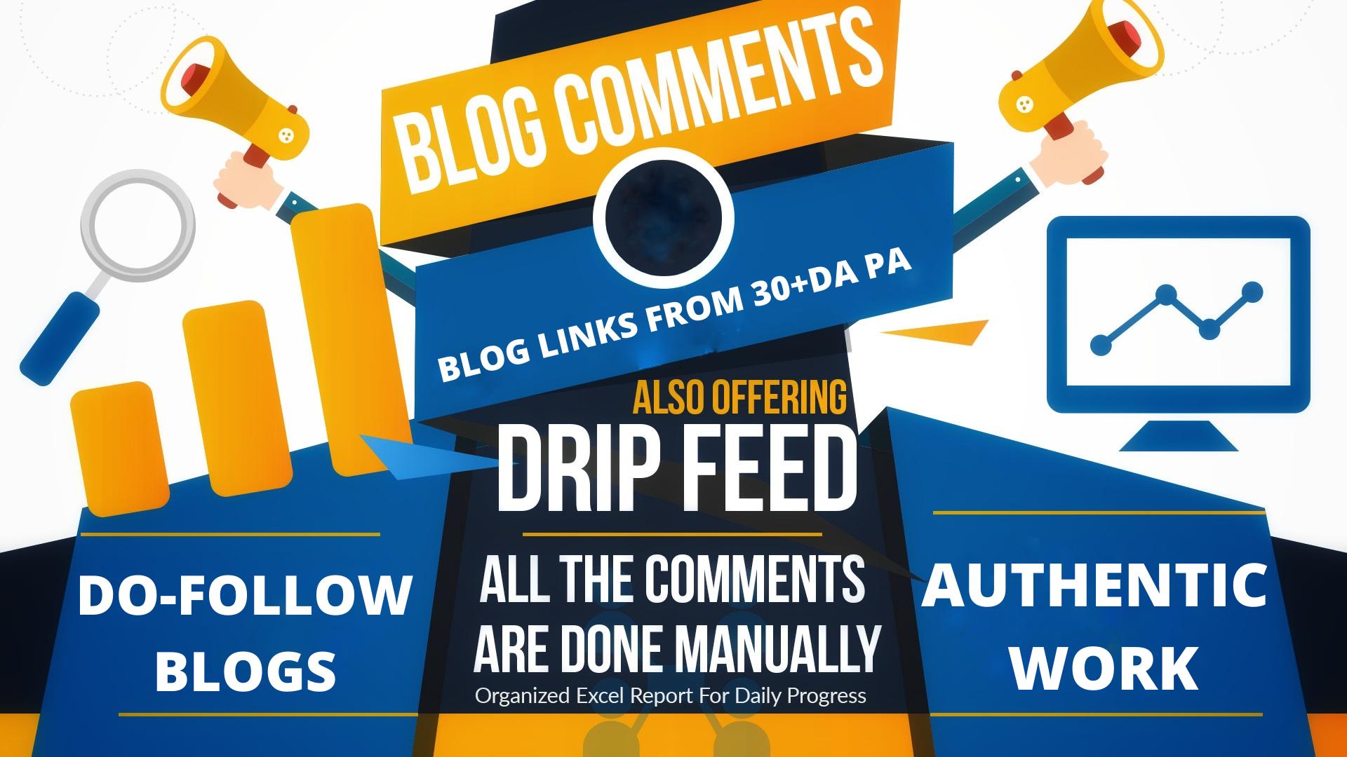 Make 100 High DA SEO Blog Comments Backlinks