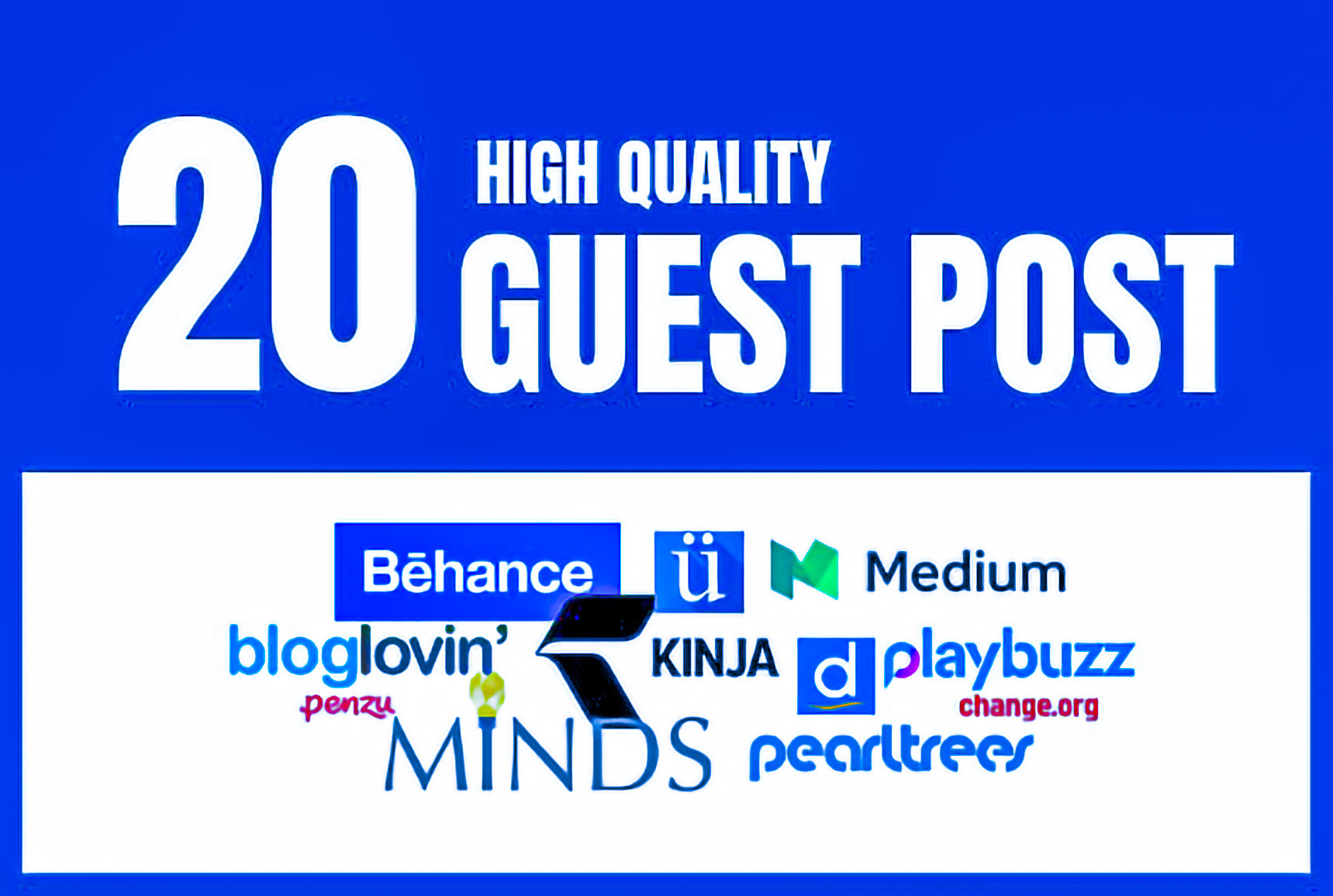 Write and Publish 20 Dofollow Guest Post High DA SEO backlinks