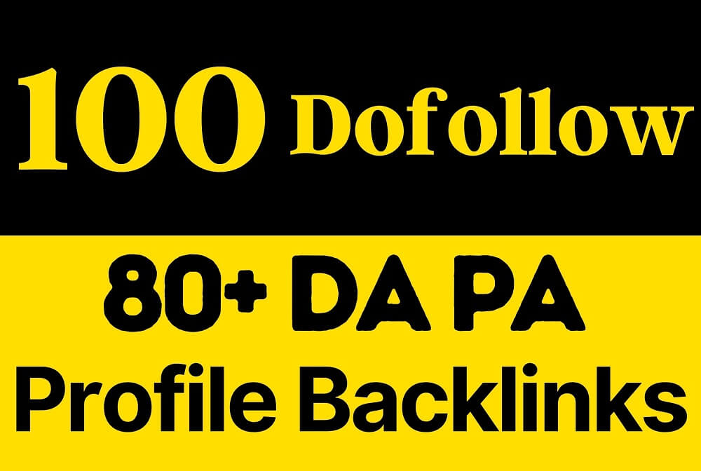 100 dofollow SEO Profile Backlinks 80 DA PA Pr9