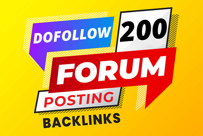 Manually I will create dofollow 200 forums posting high quality seo backlinks