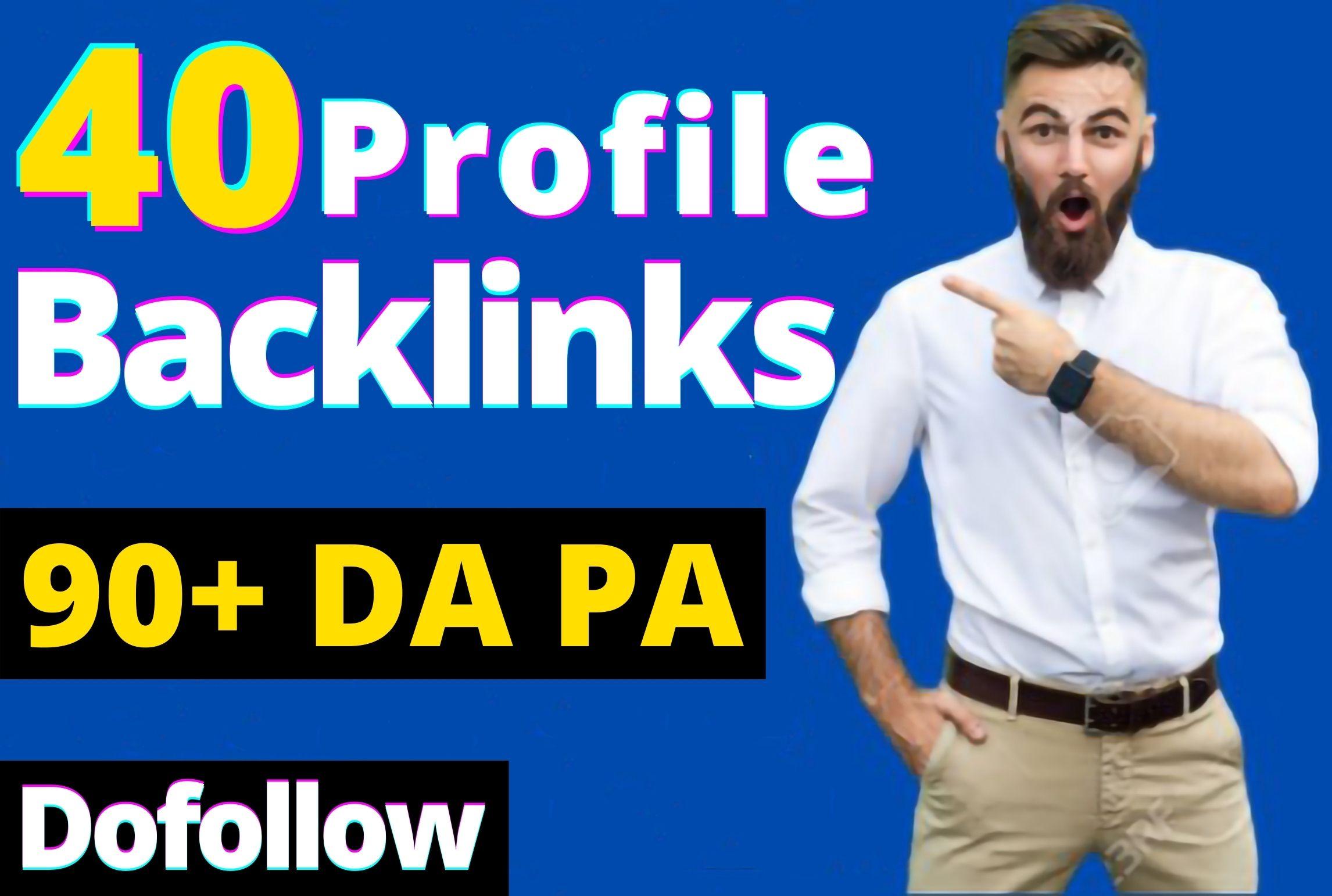 40 Dofollow High DA 90 & Pr9 Profile Backlinks From - White Hat SEO