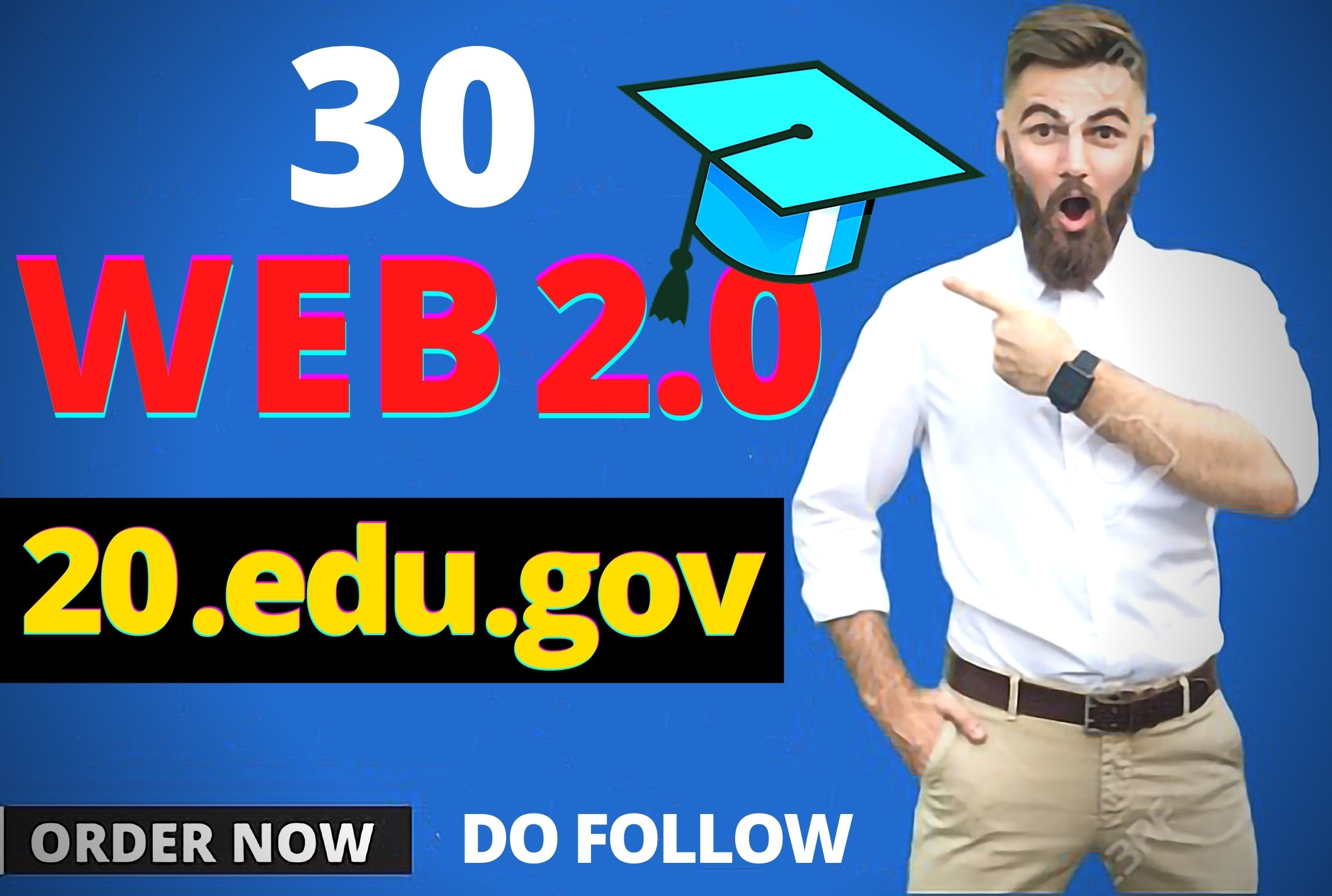 Get 20 do-follow Edu/Gov and 30 web 2.0/Social bookmarks to improve your google ranking page