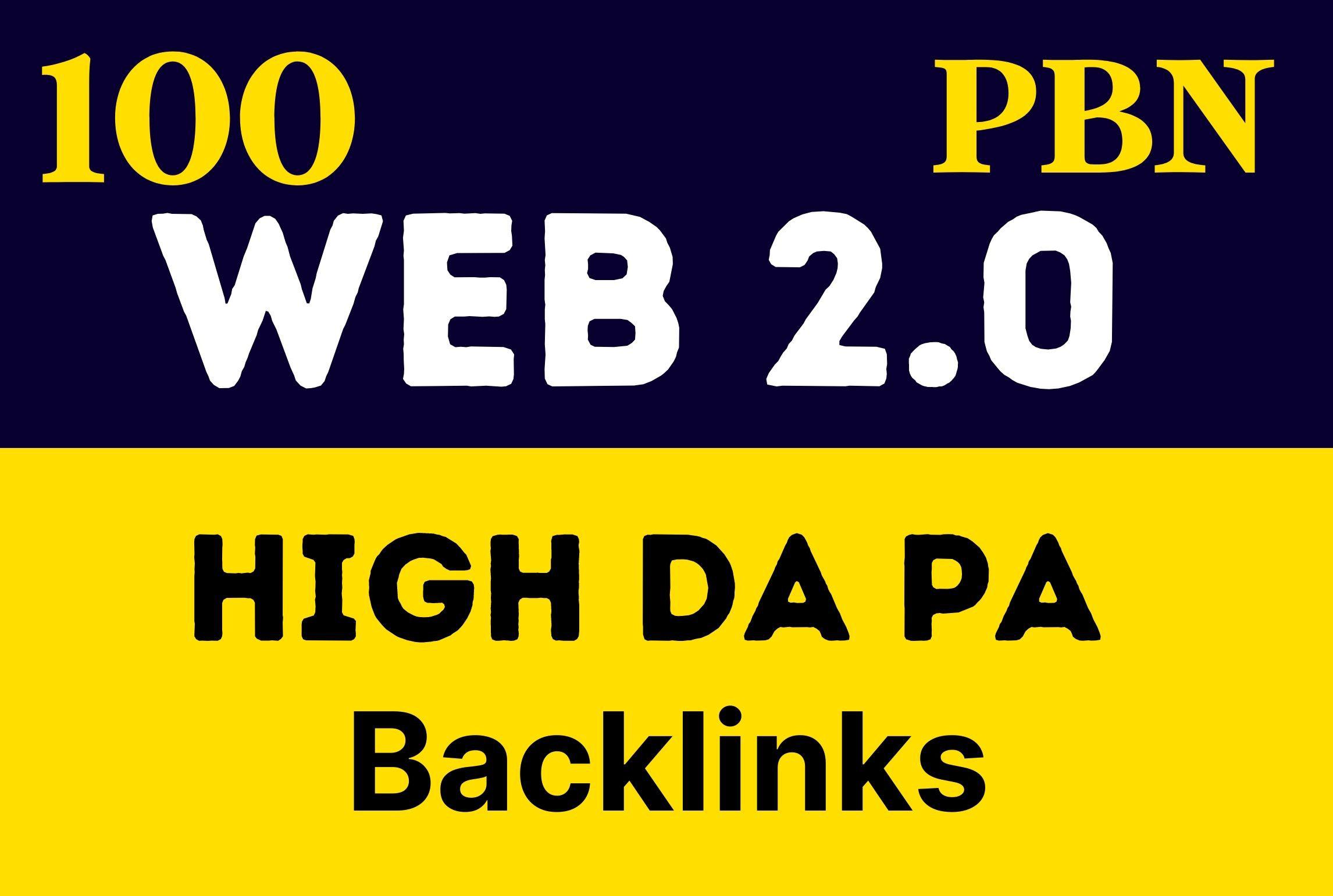 Premium Handmade 100 Unique Web 2.0 PBN Backlinks