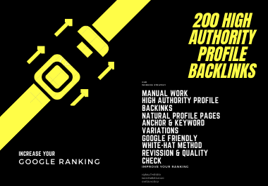 200 High Authority Do-follow Profile Backlinks