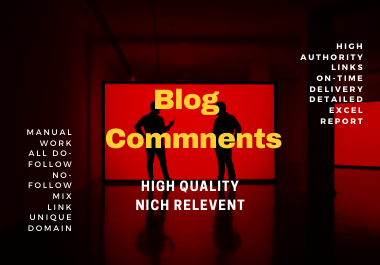 I will Make 100 Manual Blog Comments For SEO Backlinks